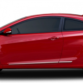 hyundai elantra 2013 red. hyundai elantra sedan chrome lower door moldings 2011 2012 2013 2014 red