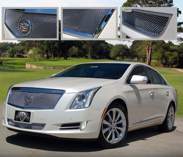 Cadillac XTS Chrome Fine Mesh Grille By E&G CLASSICS, 2013