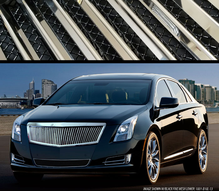 cadillac xts classic vertical upper grille with mesh. Black Bedroom Furniture Sets. Home Design Ideas