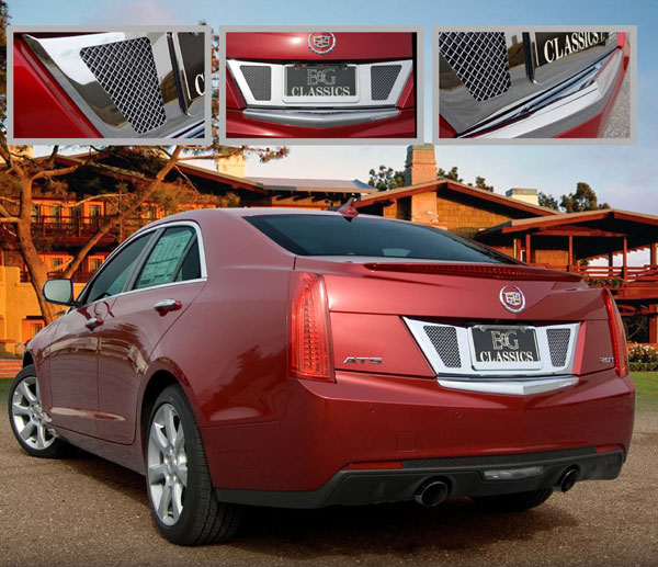 Custom Cadillac Ats: Cadillac ATS Mesh Rear License Surround By E&G CLASSICS