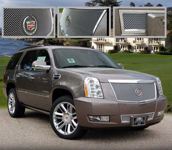cadillac escalade fine mesh grille 2007 2008 2009 2010 2011 2012 2013 2014. Black Bedroom Furniture Sets. Home Design Ideas