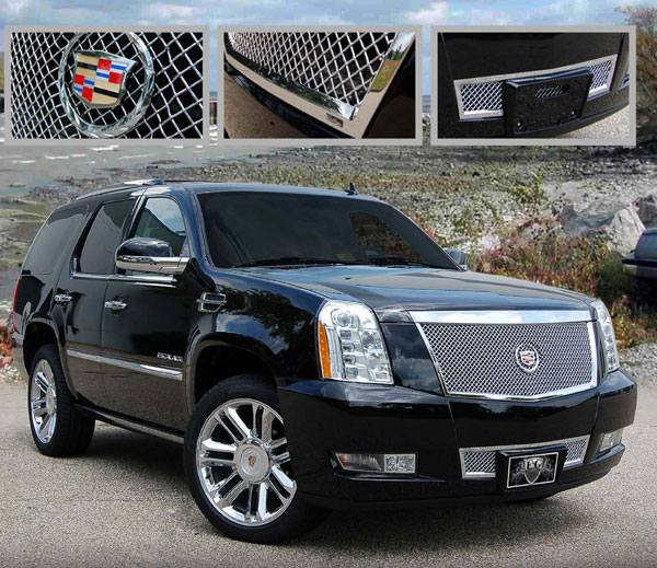 Cadillac escalade heavy mesh grille 2007 2008 2009 2010 2011 2012 2013 2014 shopsar com