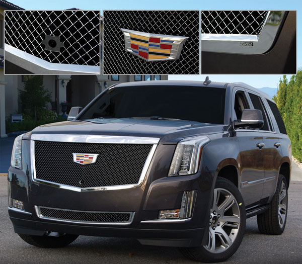 Cadillac Escalade Heavy Mesh Grille By E&G CLASSICS, 2015i