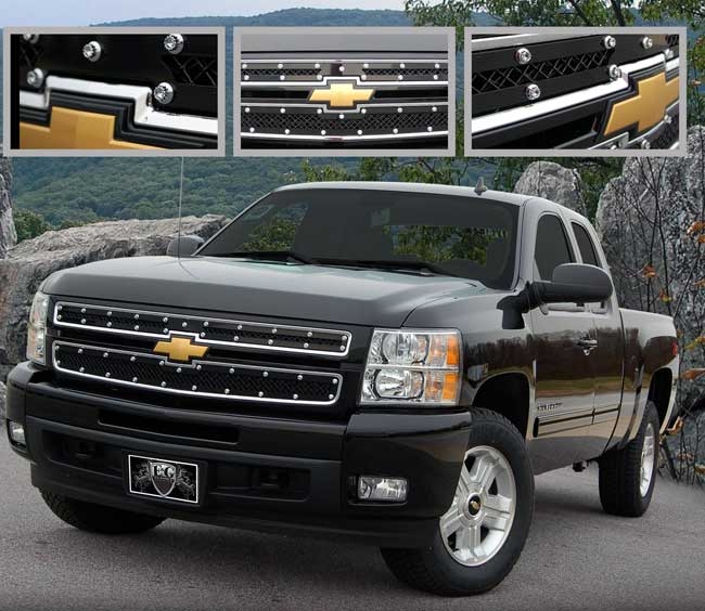 Chevy Silverado Black E Power Grille