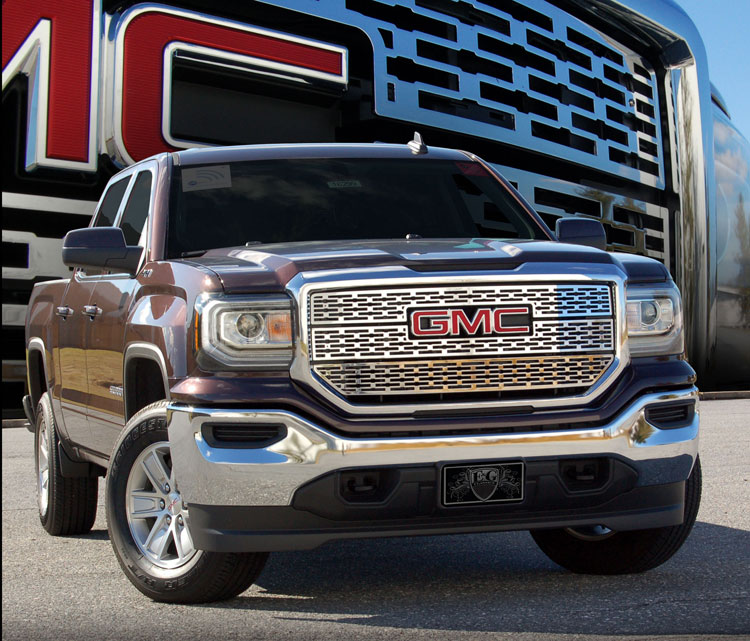 gmc sierra 1500 slt denali style z grille by e g classics 2016 2017 2018. Black Bedroom Furniture Sets. Home Design Ideas