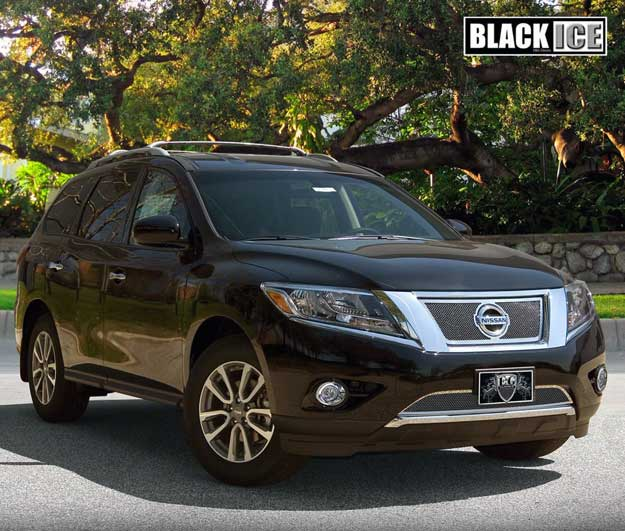 Nissan Pathfinder with Black Ice Mesh
