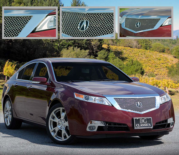 Acura TL Chrome Mesh Grille By E&G CLASSICS, 2009, 2010