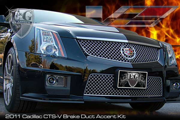 Cadillac Cts V Sedan Fine Mesh Chrome Brake Duct Covers
