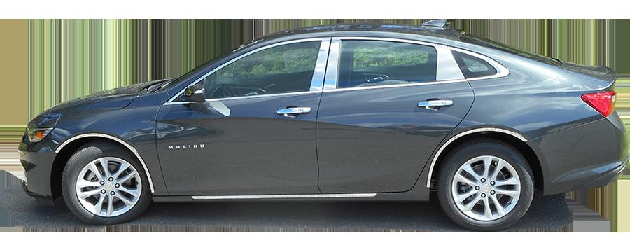 Chevrolet Malibu Chrome Pillar Post Trim 2016 2017 2018