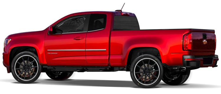 Chevrolet Colorado Chrome Body Side Moldings, 2015, 2016 ...