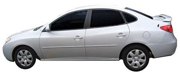 Hyundai Elantra Painted Body Side Molding 2007 2008