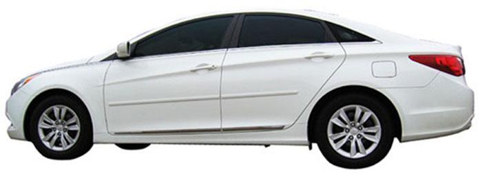 Hyundai Sonata Painted Body Side Moldings 2011 2012