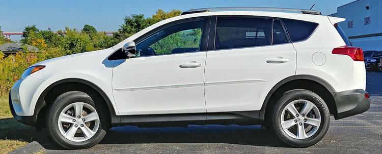 Toyota Rav4 Painted Body Side Moldings Beveled Design