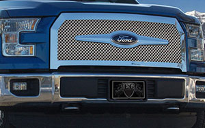 Ford F-150 Heavy Mesh Chrome Grille
