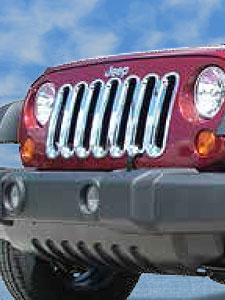 Jeep Chrome Grille Inserts