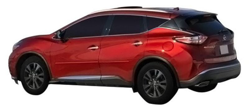 Nissan Murano Painted Body Side Moldings 2015 2016 2017