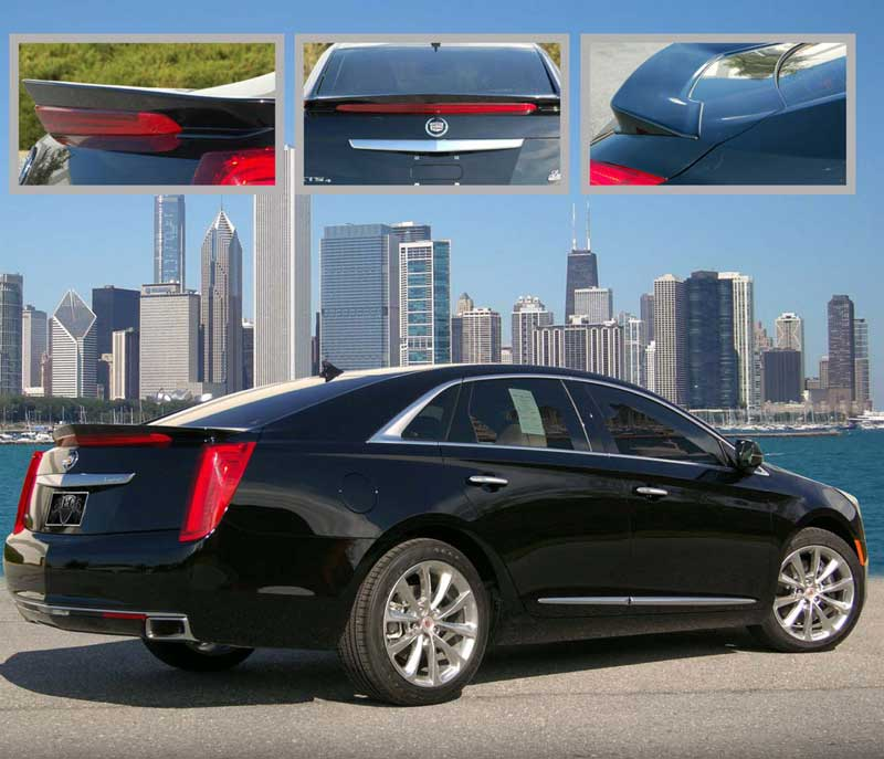Cadillac XTS Painted Rear Spoiler (Flush Mount), 2013
