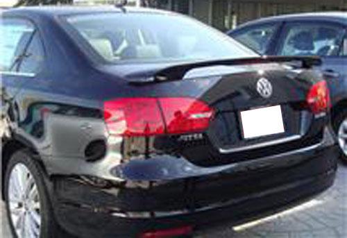 Volkswagen Jetta '2 Post' Painted Rear Spoiler (with light), 2011, 2012, 2013, 2014, 2015, 2016 ...
