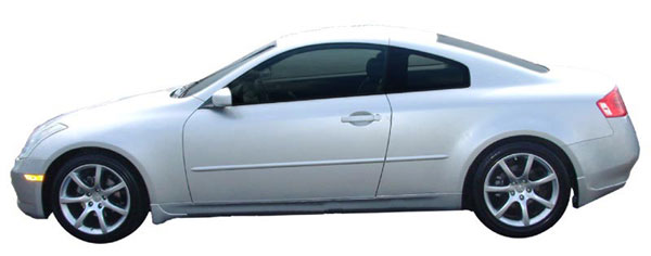 Infiniti G37 Coupe Painted Body Side Moldings, 2008, 2009 ...