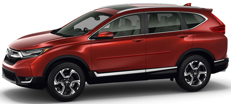 Car Paint Shops Prices >> Honda CR-V Painted Body Side Moldings, 2017, 2018, 2019 | ShopSAR.com