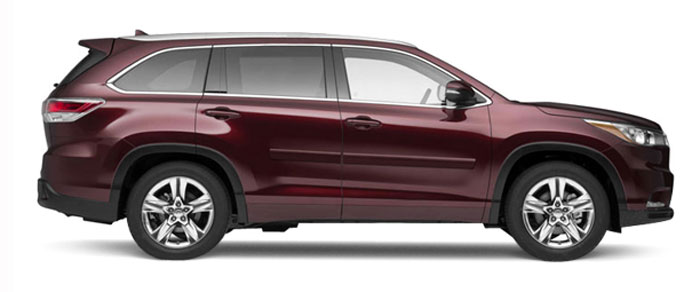 Toyota Highlander Painted Body Side Moldings 2014 2015