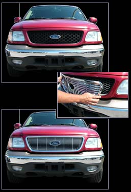 Ford F150 Chrome Grille Overlay 1999 2000 2001 2002