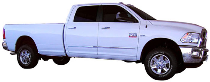 Dodge Ram Chrome Lower Door Accent Moldings 2009 3010