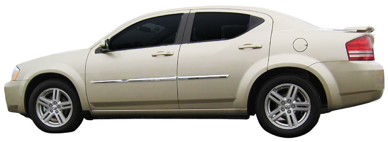 Dodge Avenger Chrome Door Mouldings