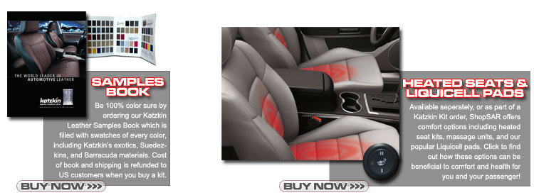 Fiat Katzkin Leather Seats - Heated - Liquicell Pads