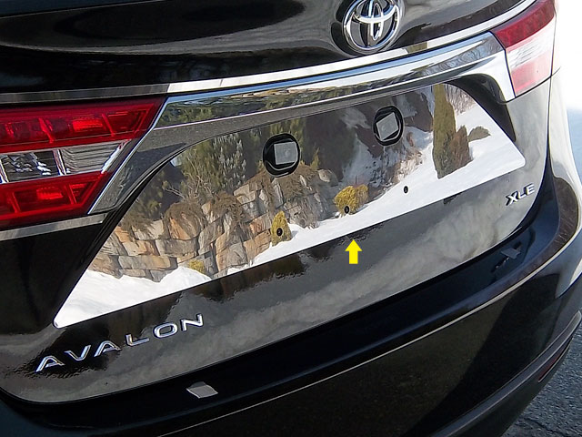 Toyota Avalon Chrome License Plate Bezel 2013 2014 2015