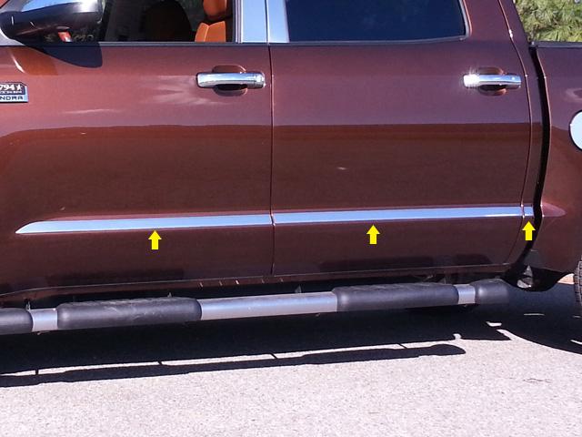 Toyota Tundra Chrome Door Molding Insert Trim 2014 2015