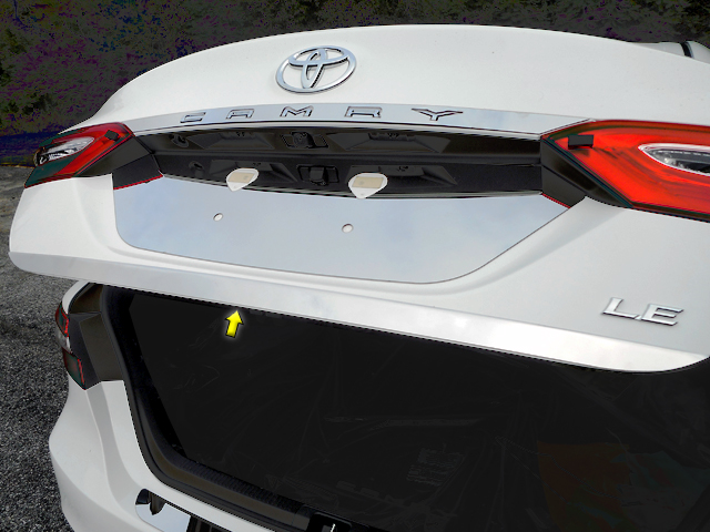 Toyota Camry Chrome Rear Trunk Trim