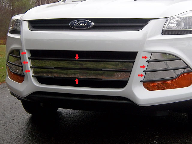 Ford Escape Chrome Grille and Vent Cover Trim, 2013, 2014 ...