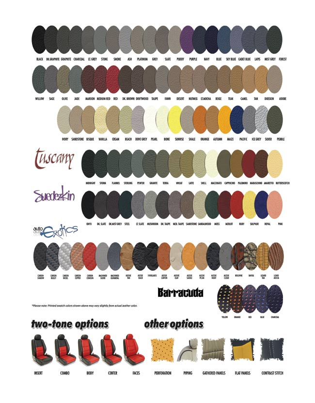 Katzkin Leather Color Samples