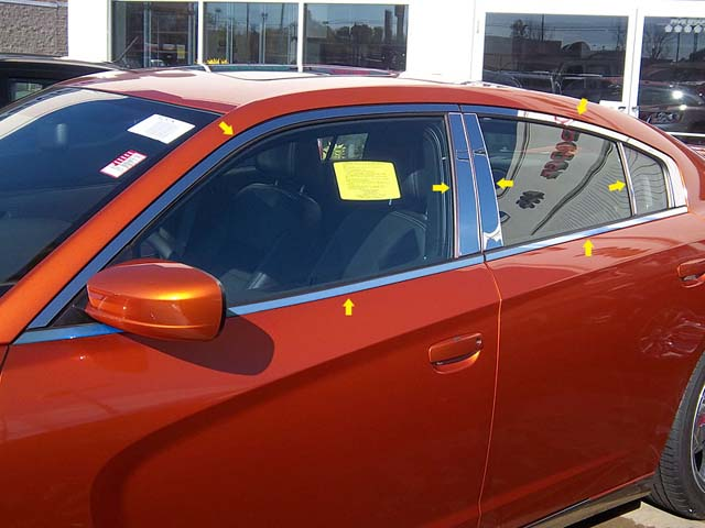Dodge Charger Chrome Window Trim Package 2015 2016 2017