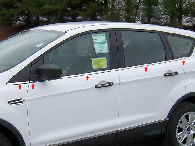Ford Escape Chrome Window Sill Trim 2013 2014 2015