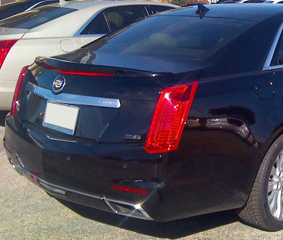cadillac cts sedan painted spoiler flush mount 2014. Black Bedroom Furniture Sets. Home Design Ideas
