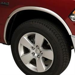 Dodge Ram 1500 Chrome Wheel Well Fender Trim 2009 2010