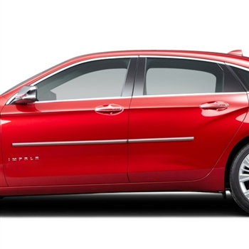 Chevrolet Impala Chrome Body Side Moldings 2014 2015