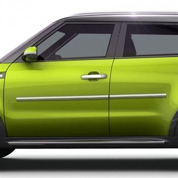 Kia Soul Chrome Body Side Moldings 2014 2015 2016 2017