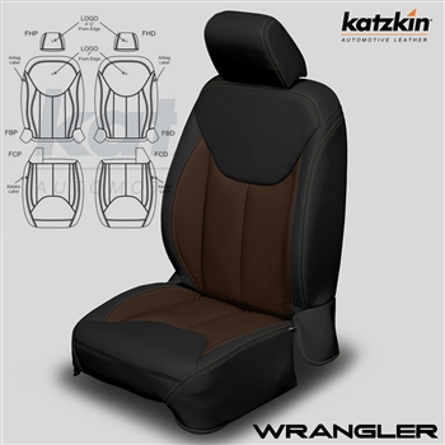 Jeep Wrangler Katzkin Leather Seat Upholstery Kit