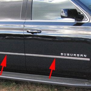 Chevrolet Suburban Chrome Door Accent Trim, 2015, 2016 ...