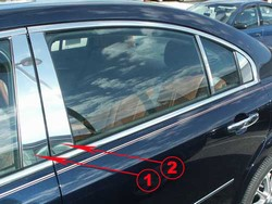 2007 2008 2009 Saturn Aura Chrome Pillar Post Trim 4pc