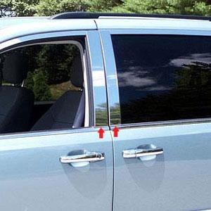 Dodge Grand Caravan Chrome Pillar Post Trim 2008 2009