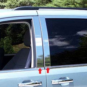 Chrysler Town And Country Chrome Pillar Post Trim 2008 2009 2010 2011 2012 2013 2014