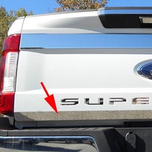 Ford Super Duty Chrome Lower Tailgate Trim 2017 Shopsar Com