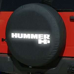 Hummer H3 Soft Spare Tire Cover With Reflective Logo 2006
