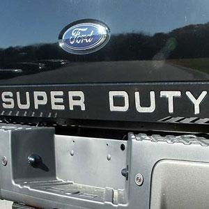 Ford Super Duty Tailgate Chrome Letter Set 2008 2009