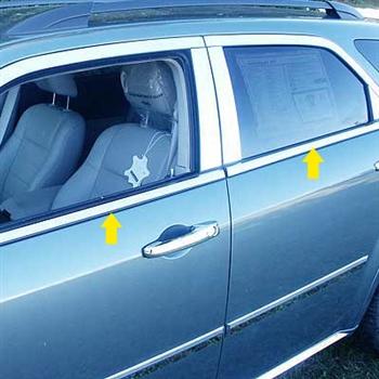 Dodge Magnum Chrome Window Trim, 2005, 2006, 2007, 2008 ...