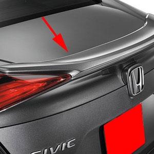 Honda Civic Sedan Painted Rear Spoiler Lip Mount No